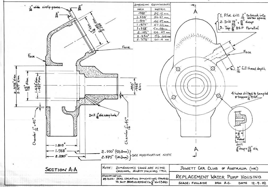 First the water pump, then the main bearings, and the crankcase  modification tool. Plus front (early) suspension, front hubs , crankcase  tie-bolts, ...